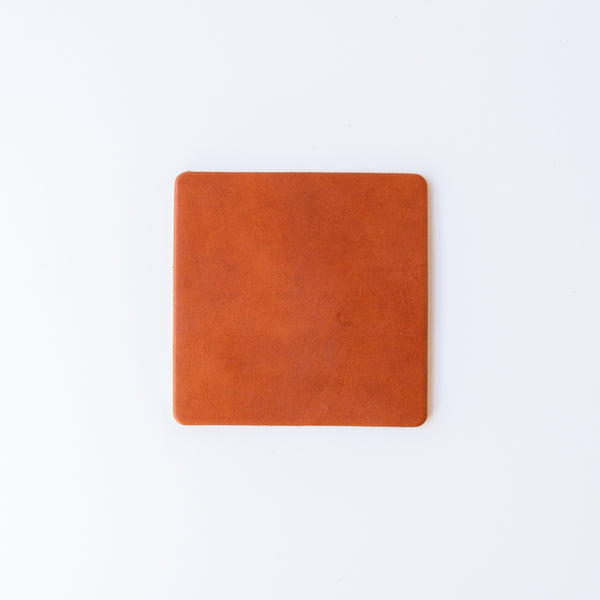 Saddle Tan Leather Coasters