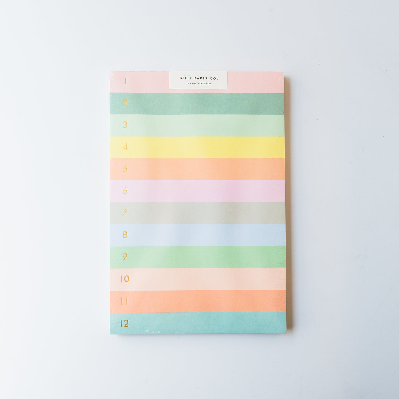 Rainbow Numbered Notepad
