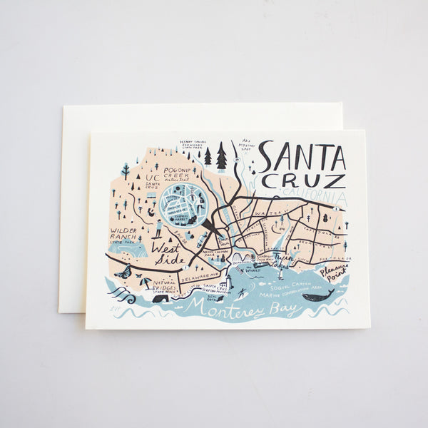 Santa Cruz Card Illustrated by Libby VanderPloeg