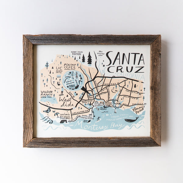 Santa Cruz Print Framed