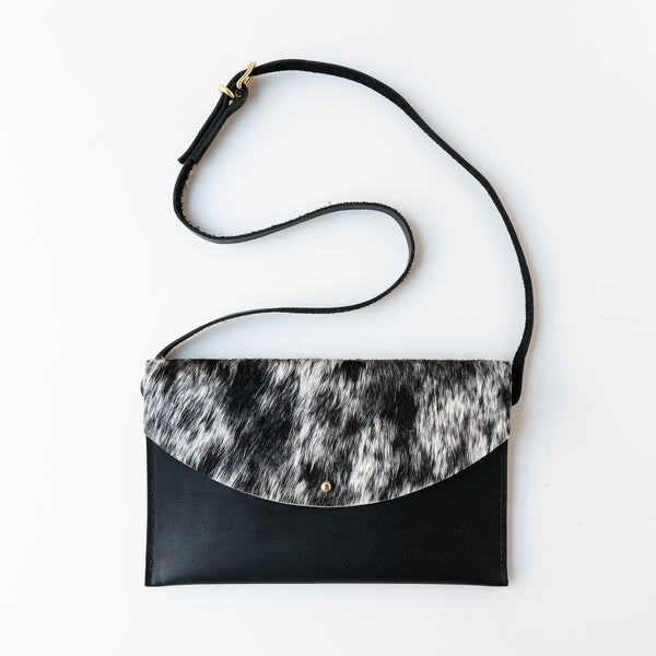 Convertable Hip Bag Salt and Pepper Hide