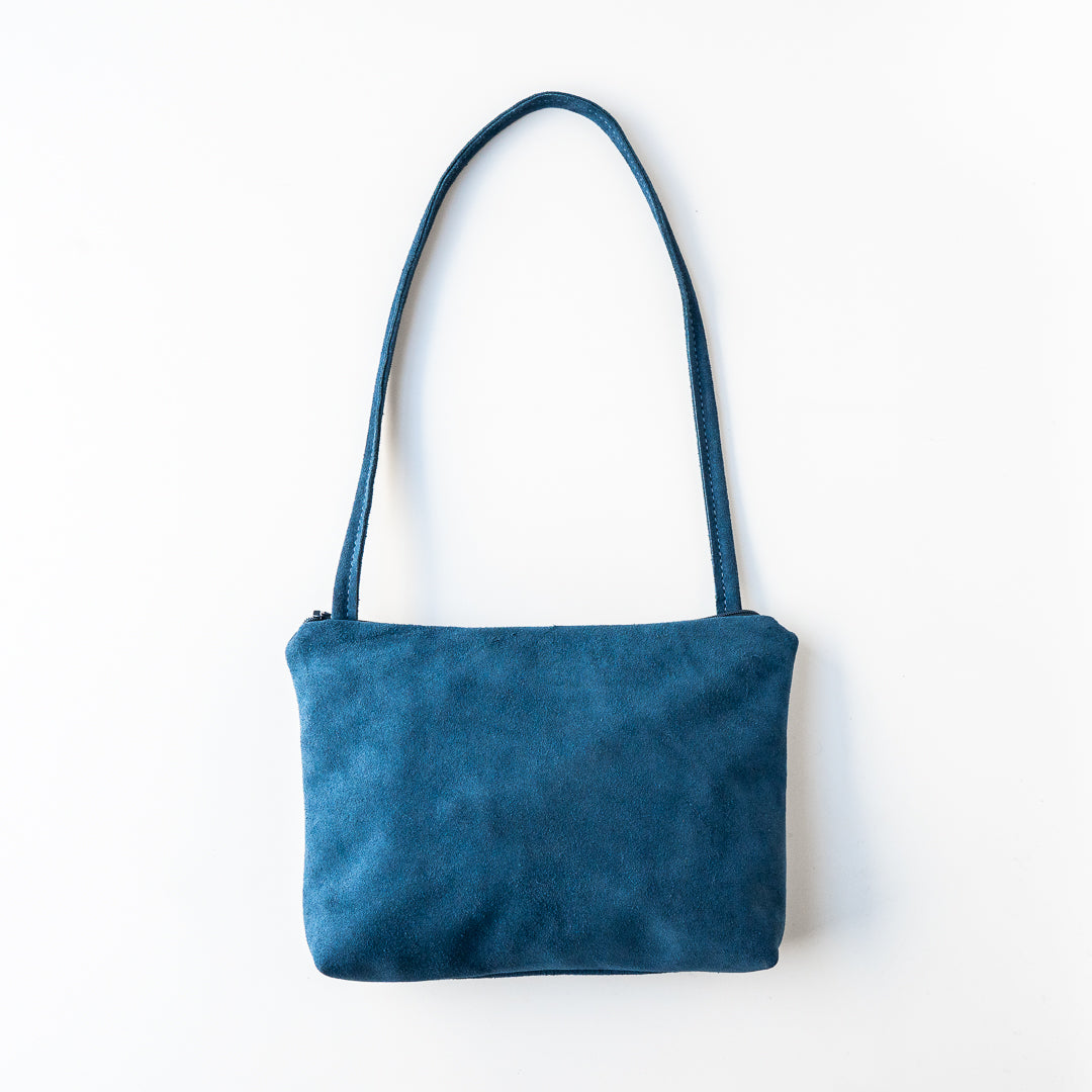 Karly Bag in Blue Denim Suede