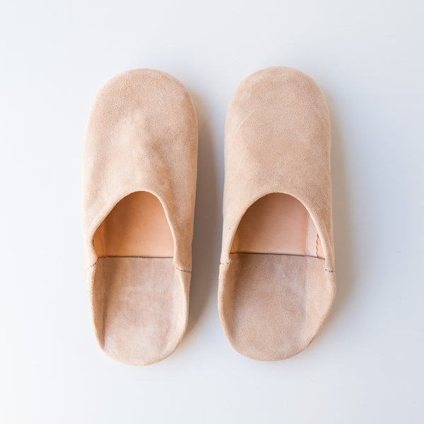 Blush Moroccan Babouche Slippers