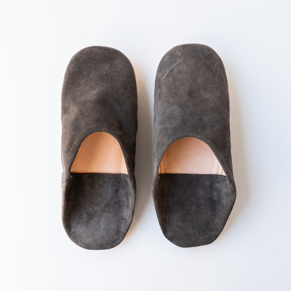Charcoal Moroccan Babouche Slippers
