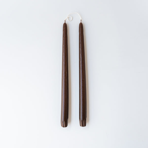 Pair of Taper Candles - Chocolate