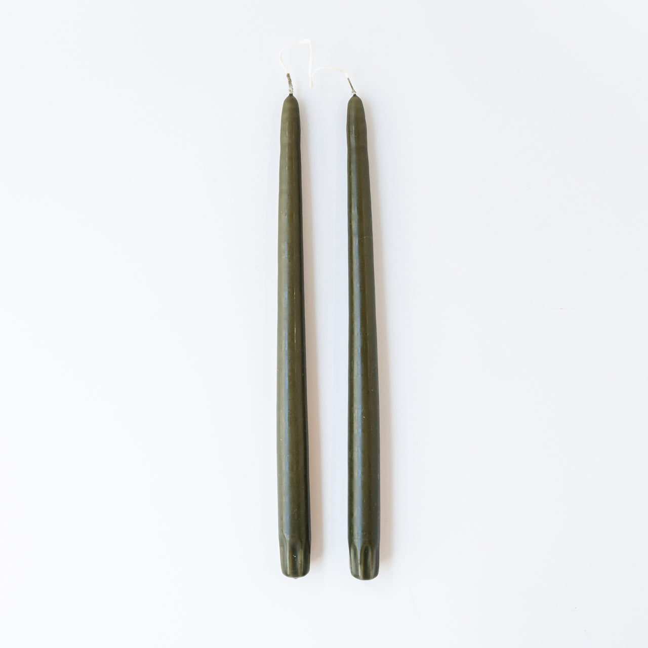 Pair of Taper Candles - Olive