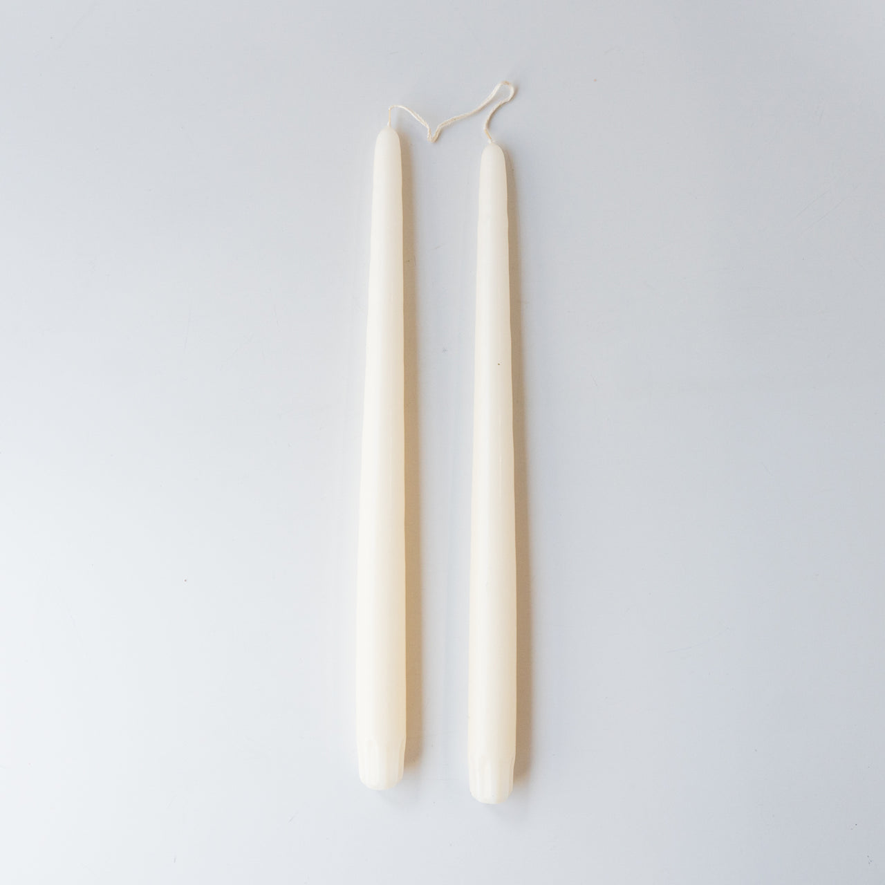 Pair of Taper Candles - White