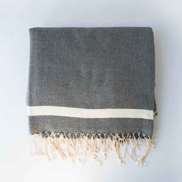 Moroccan Throw Blanket - Grey
