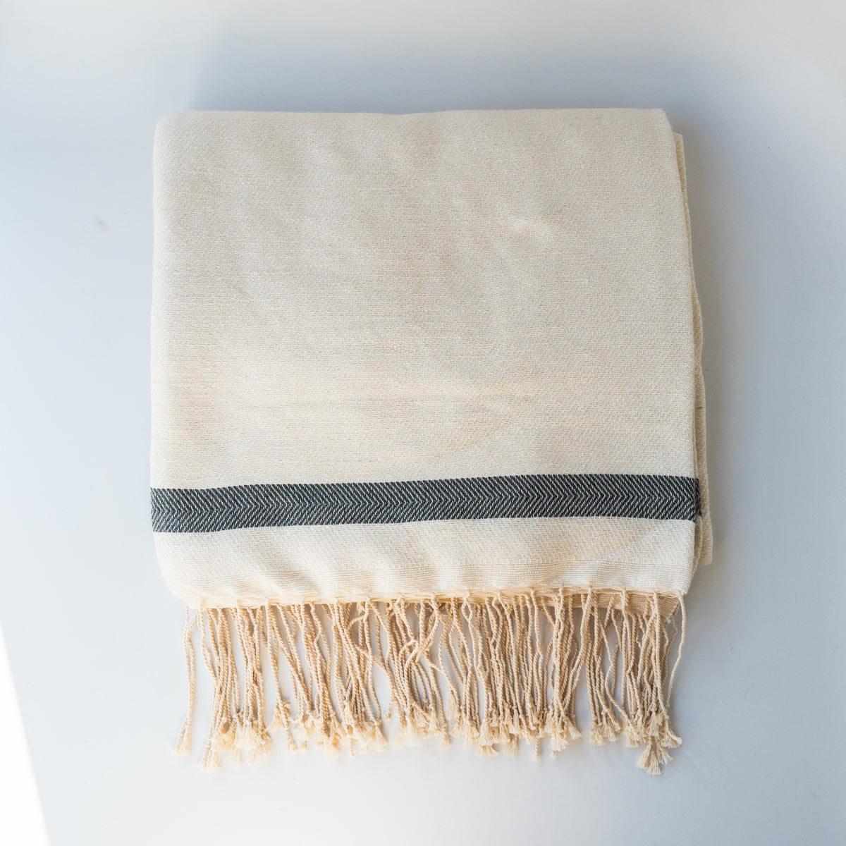 Moroccan Throw Blanket - Creme
