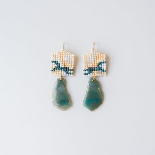 Beaded Earrings With Amazonite