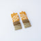 Gold Bar Jasper Earrings