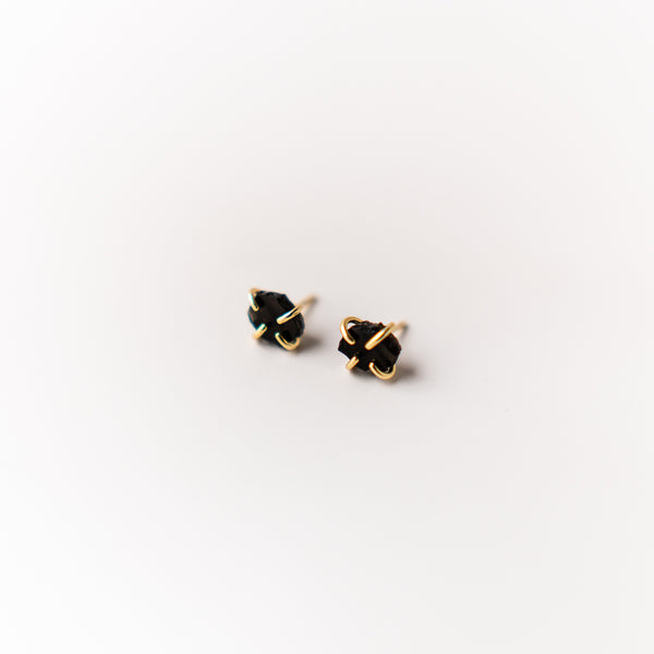 Obsidian Gemstone Prong