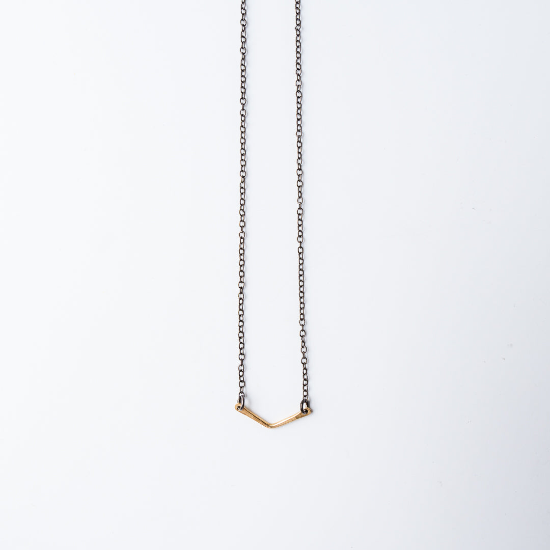 Chevron Mixed Metal Necklace