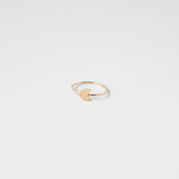 Crescent Moon Ring Gold Fill