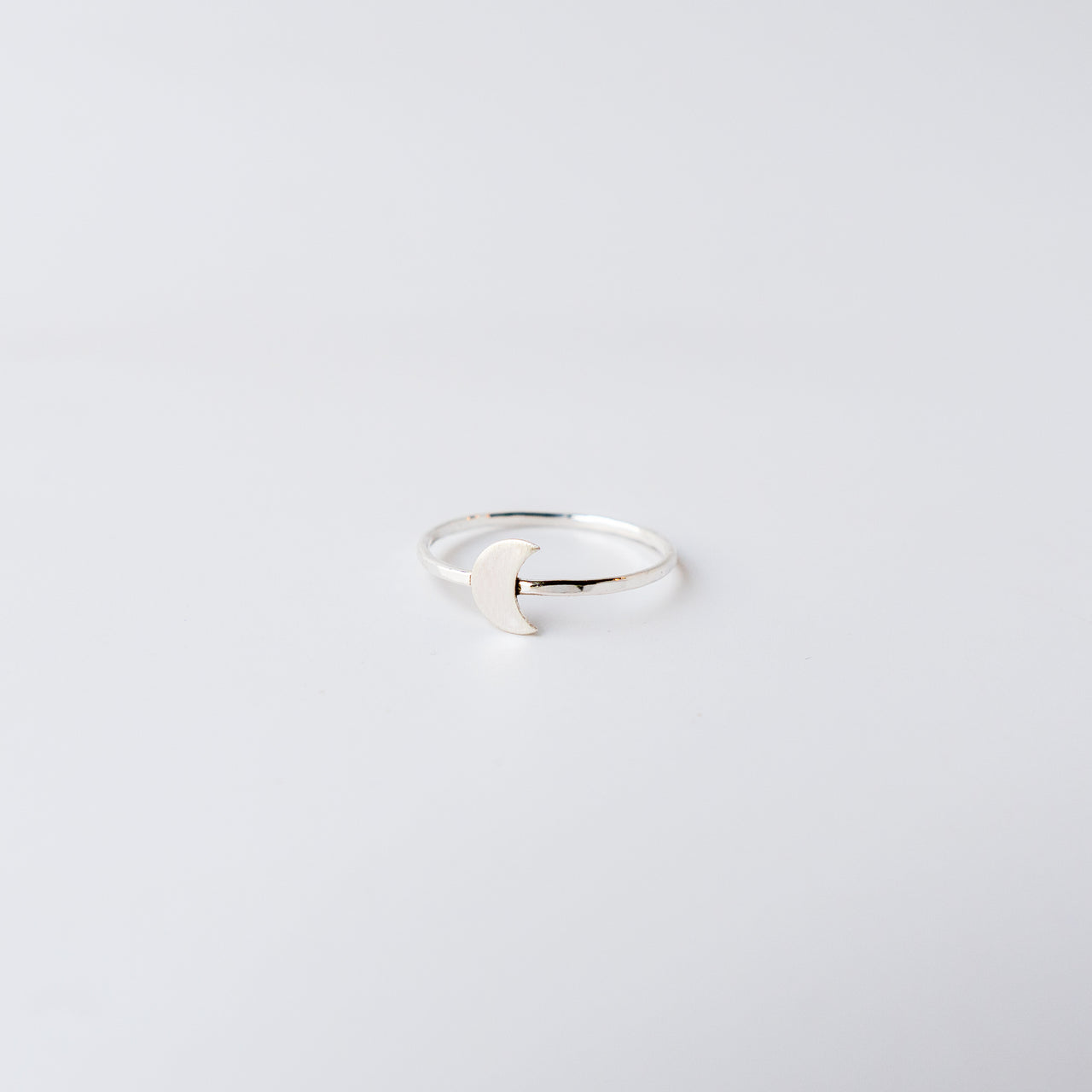 Crescent Moon Silver Ring