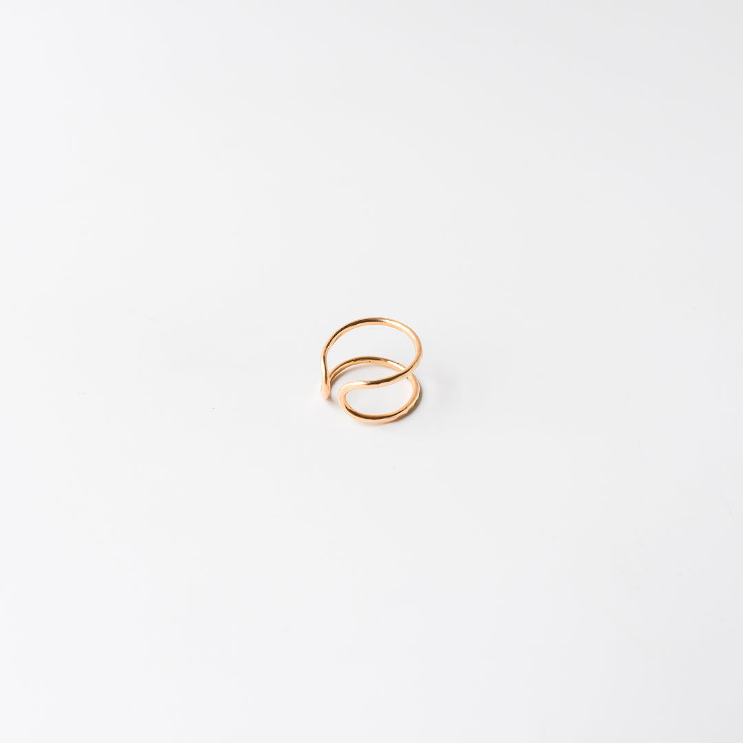 Double Point Ring Gold