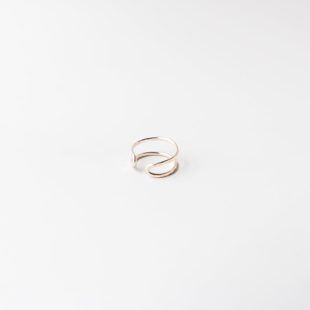 Double Point Ring Silver