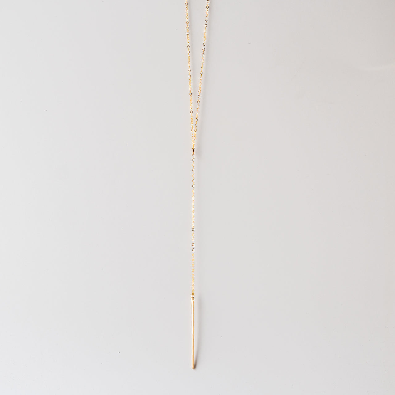 Lariat Necklace in Gold Fill