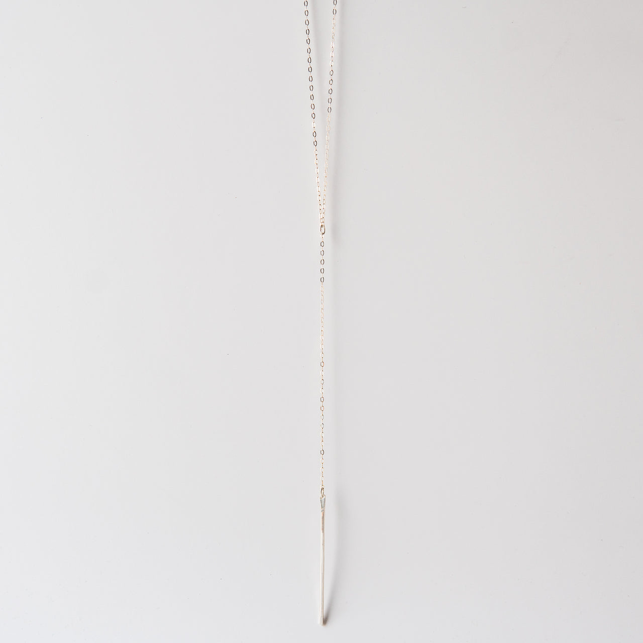 Lariat Necklace in Sterling Silver