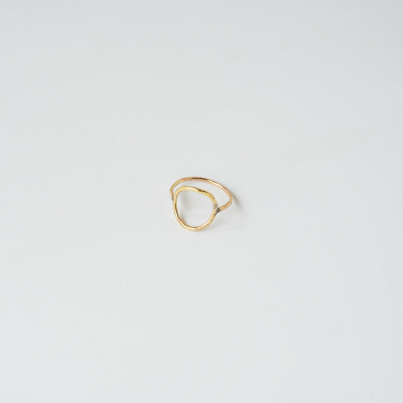 Open Circle Ring Gold Fill