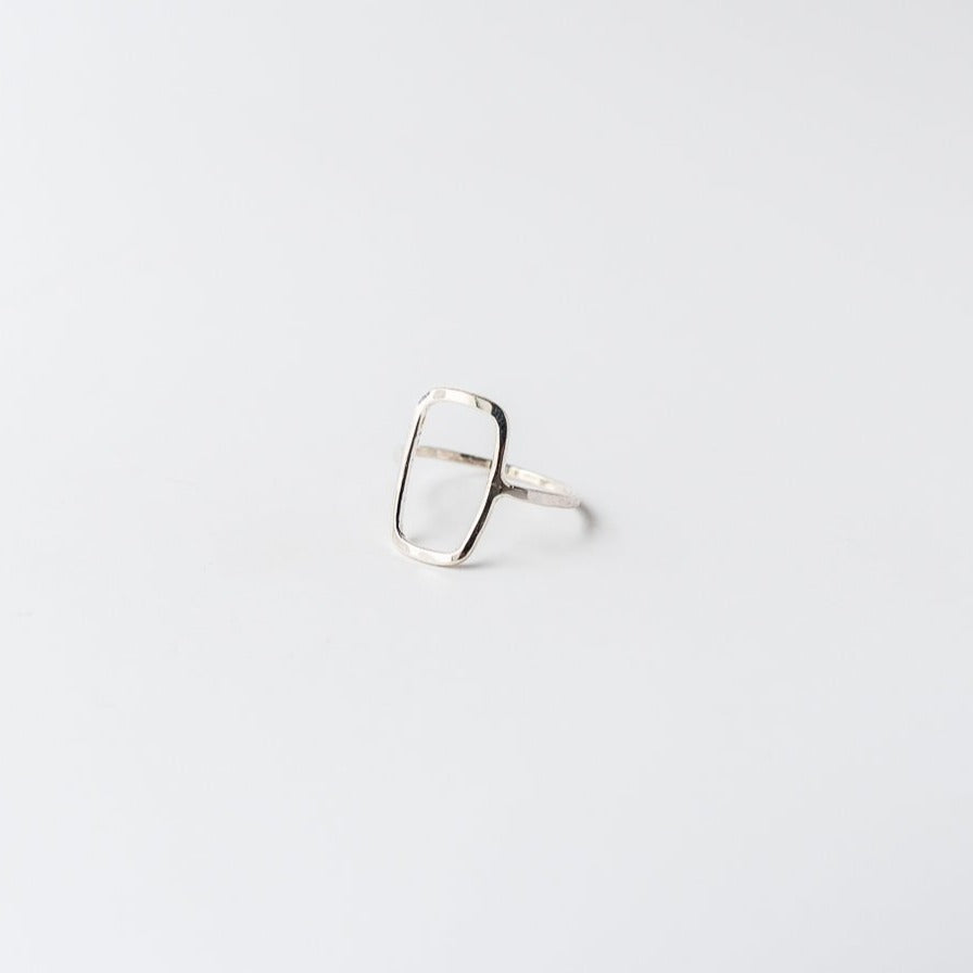 Rectangle Ring Silver