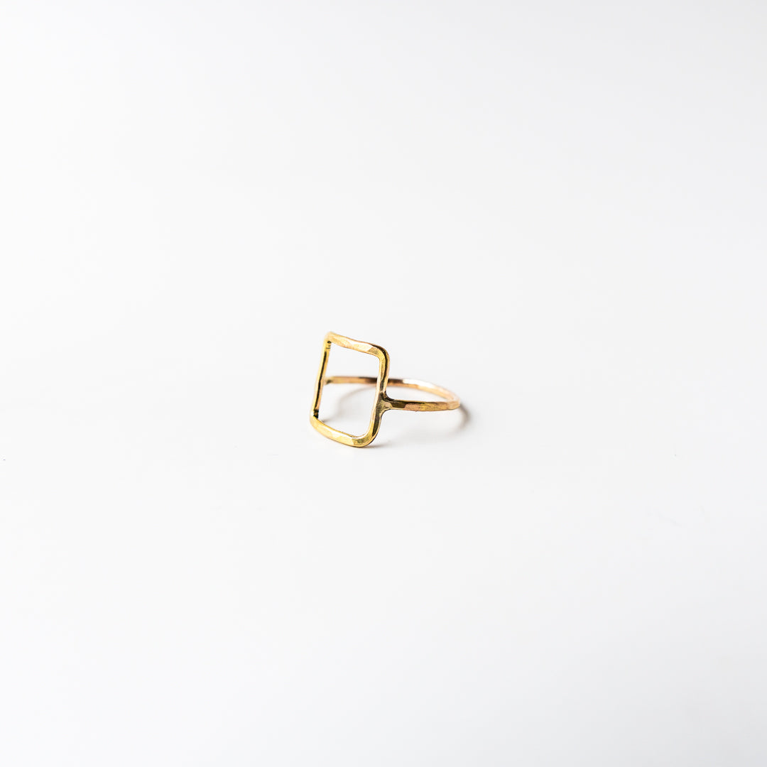 Square Ring Gold