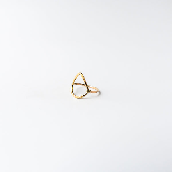 Teardrop Ring Gold