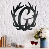 Antler Initial - Custom Monogram - Steel Wall Sign