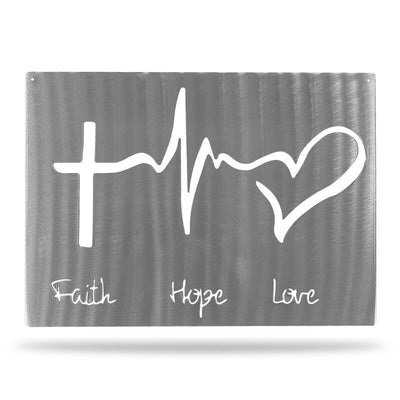 Faith Hope Love -  Steel Wall Sign