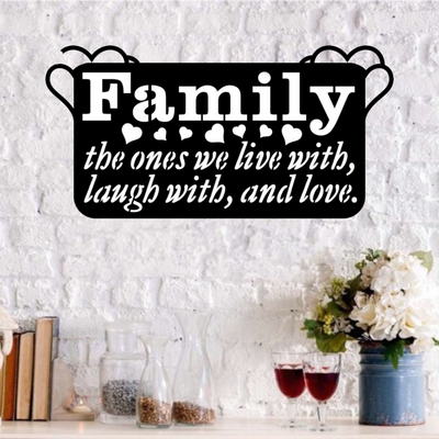 Family: Live Laugh Love - Steel Wall Sign
