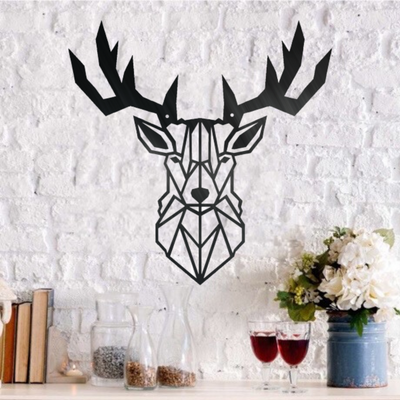 Geometric Deer - Steel Wall Sign