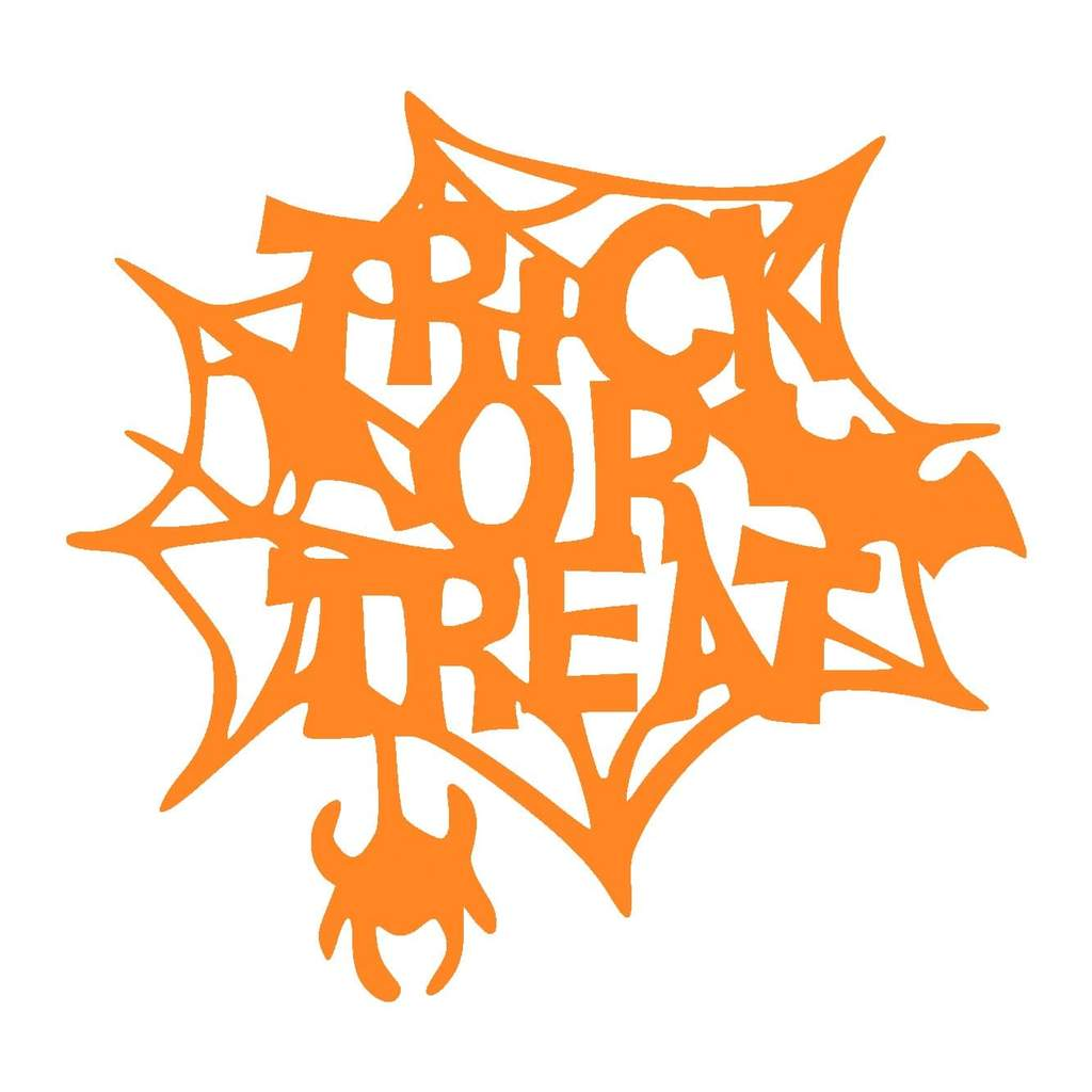 Trick or Treat Metal Wall Sign
