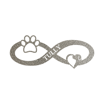 Infinity Paw Personalized Name Sign