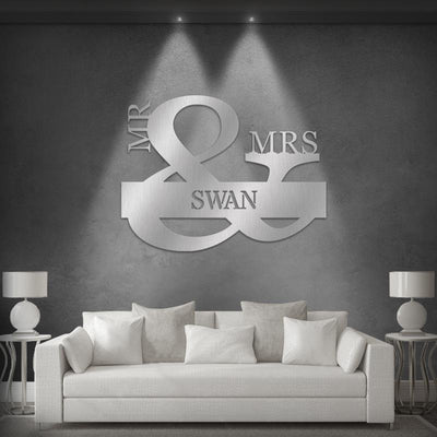 Mr. & Mrs. Monogram Metal Art