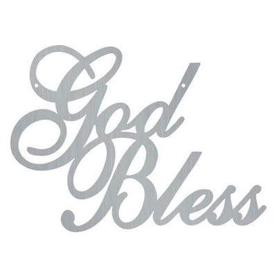 God Bless - Steel Wall Sign