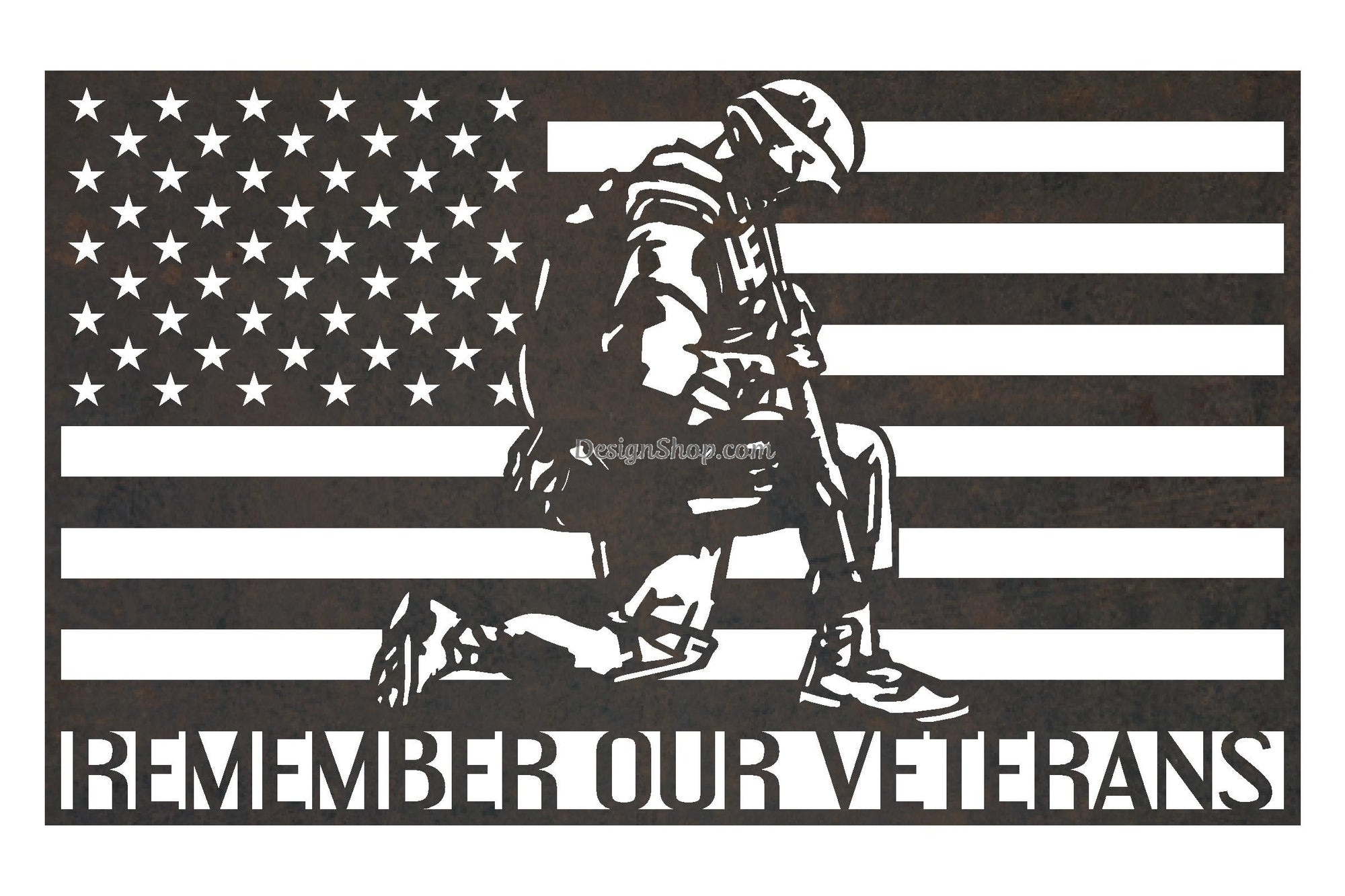 LIMITED EDITION - Remember Our Veterans Sign