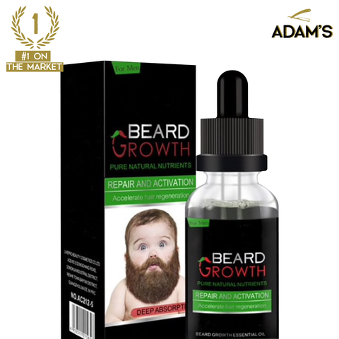 PREMIUM ORGANIC BEARD GROWTH OIL (WORLDWIDE SHIPPING)