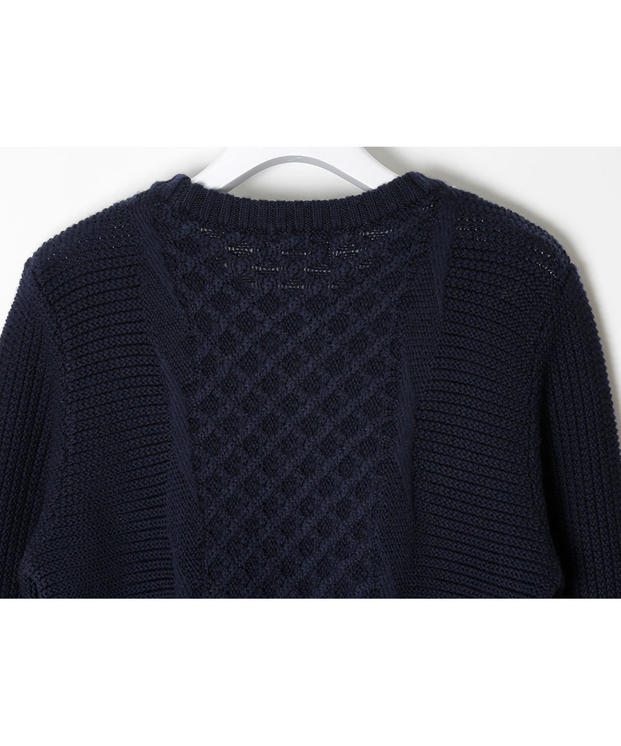 Meshed Knit Tops