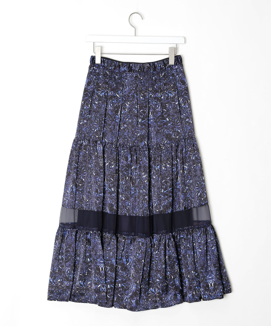 Mirror printed skirt