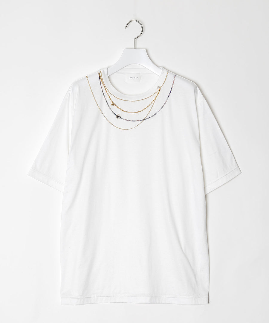 Mirror necklace T-shirt