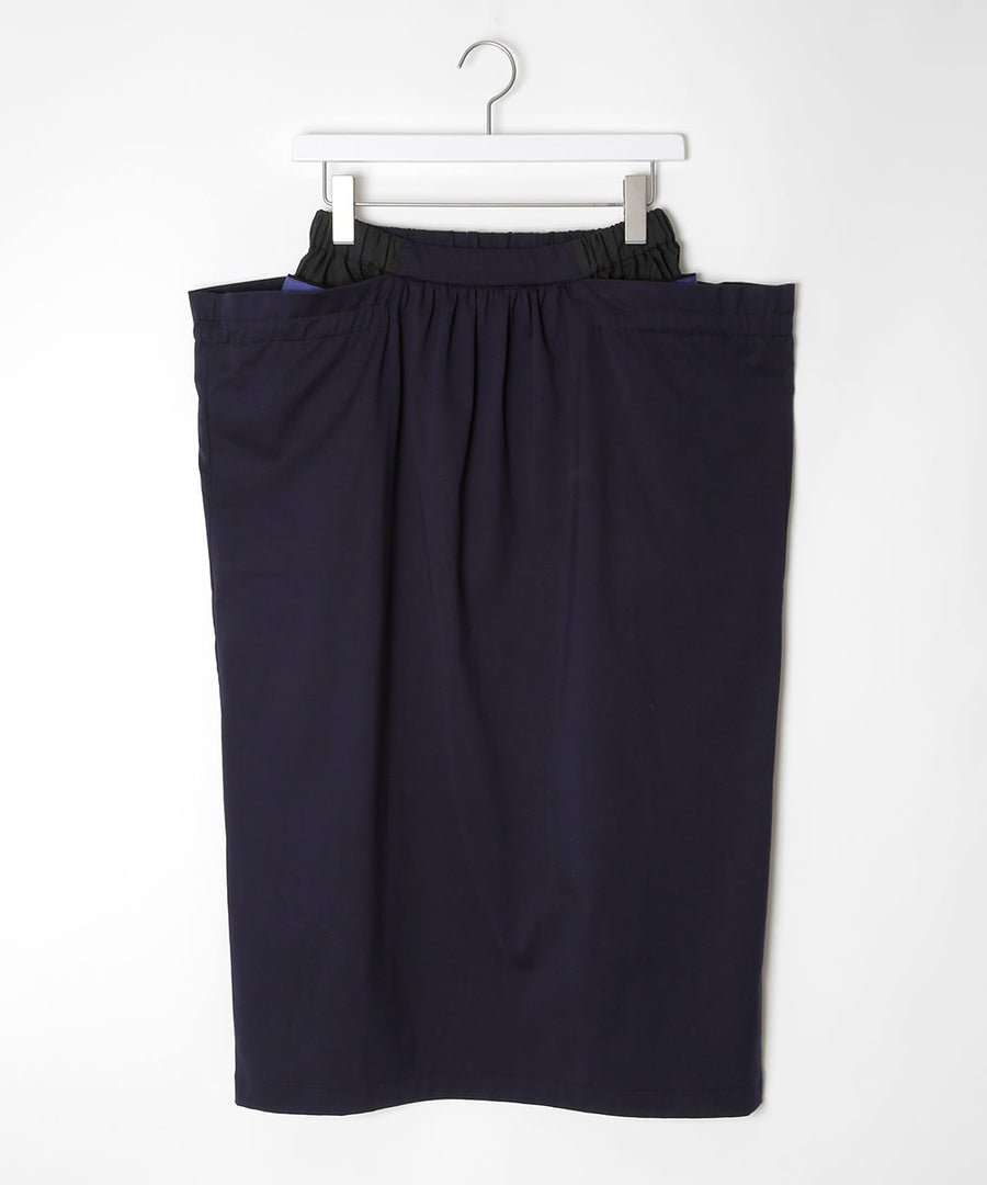Skirt with double pockets