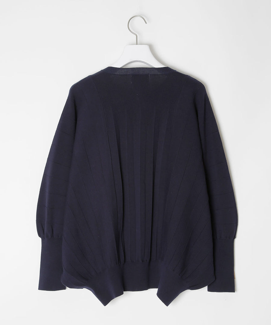 Pleated cardigan