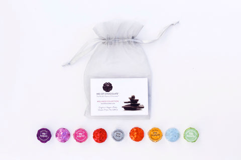 8pc Organza Dark Chocolate Sampler