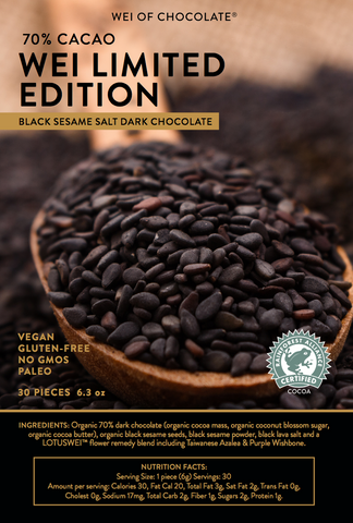 Black Sesame Salt Dark Chocolate - Limited Edition
