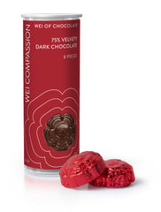 Wei Compassion Velvety Dark Chocolate tube