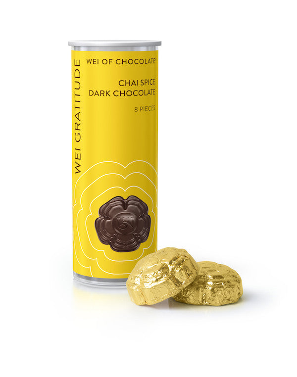 Wei Gratitude organic vegan dark chocolate with chai spices