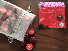 Wei Compassion Velvety Dark Chocolate - 50 pieces bulk