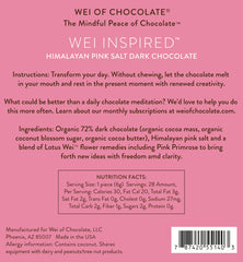 Wei Inspired Himalayan Pink Salt Dark Chocolate - 50pc bag