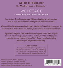 Wei Peace Lavender Grey Dark Chocolate - 50pc bag