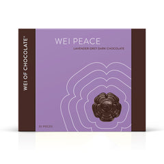 Wei Peace Dark Chocolate Organic Vegan Lavender Grey Dark Chocolate 70% cacao